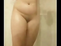 Desi Bhabhi bathing in shower